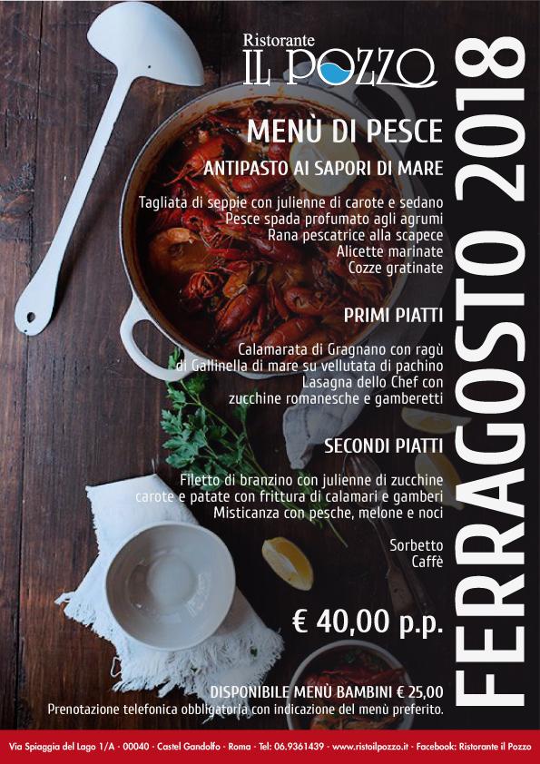 ferragosto a castel gandolfo: menu base pesce